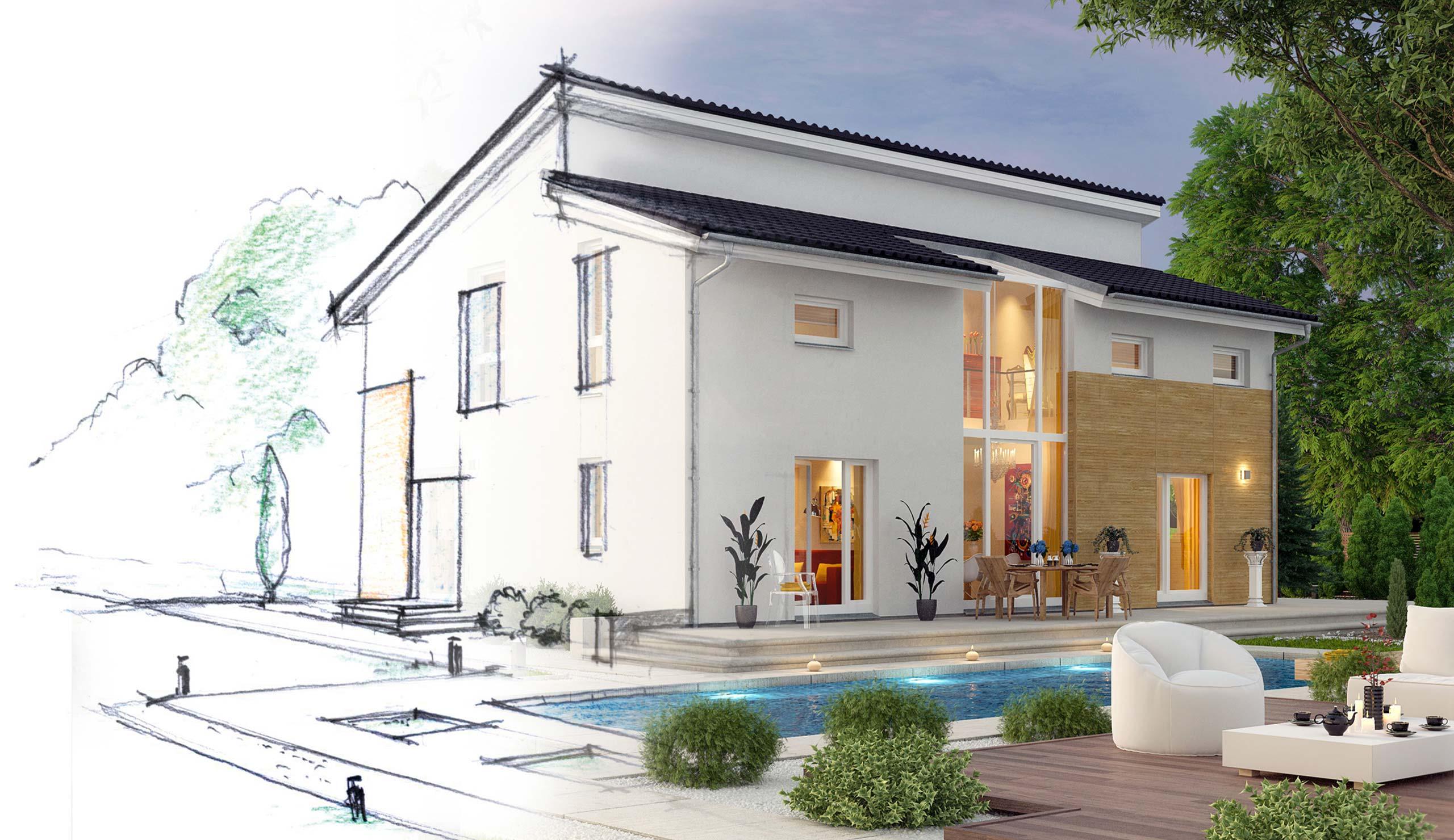 fertighaus von prohaus g nstig bauen g nstige. Black Bedroom Furniture Sets. Home Design Ideas